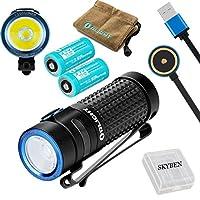 OLIGHT(オーライト) S1R BATON II 軽量小型 EDC 充電式懐中電灯 High Performance CW LED搭載 最大1000ルーメン 5段階切替+ストロボ 充電式LEDフラッシュライト/2*IMR 充電 ハンディライト/ランヤード/ポーチ/電池ケース/マグネット吸着式 USB充電ケーブル