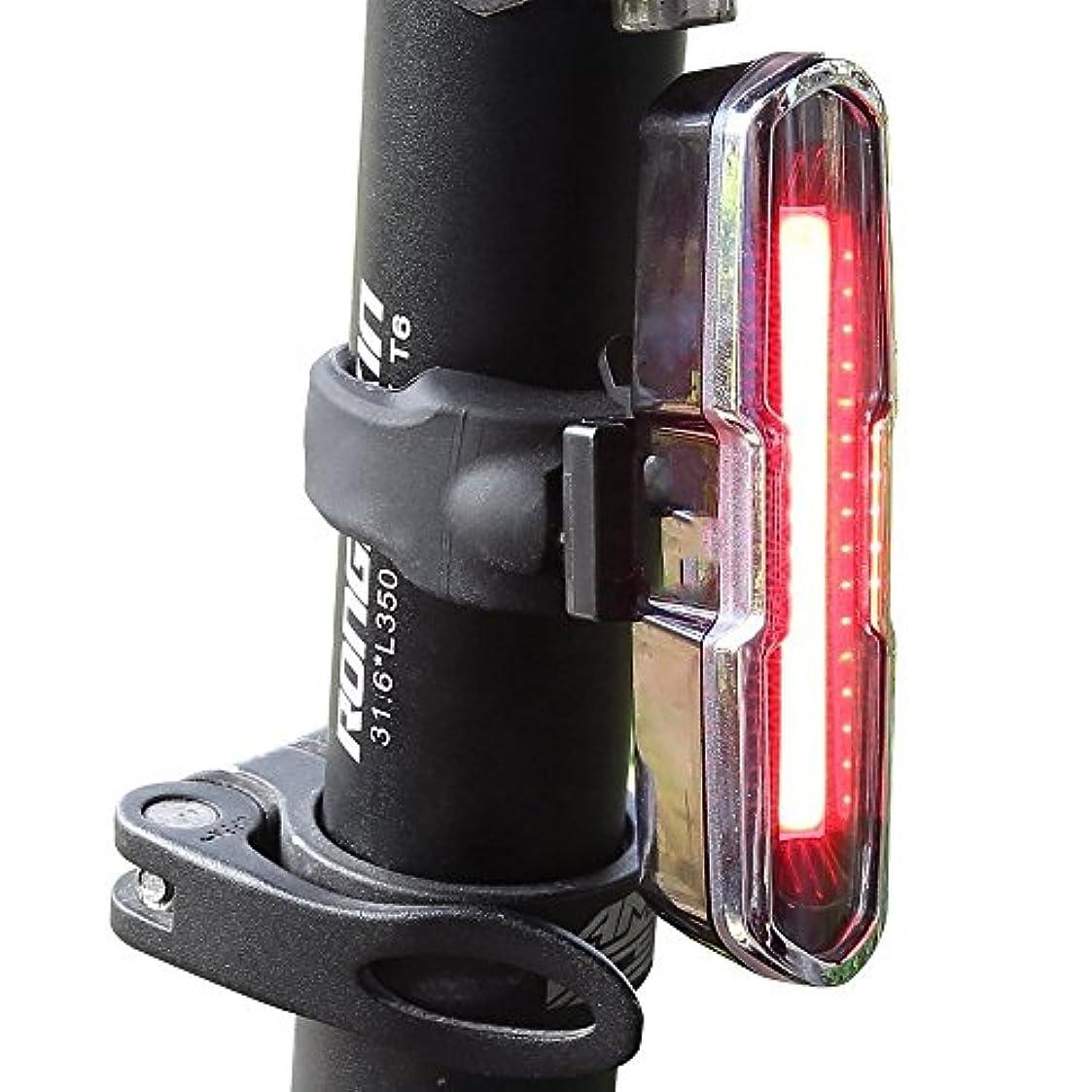 月面蚊果てしない充電式自転車ライト 赤と青のUSB充電式自転車テールライト-COBスーパーブライトヘルメットライト - マウンテンバイク用ライト