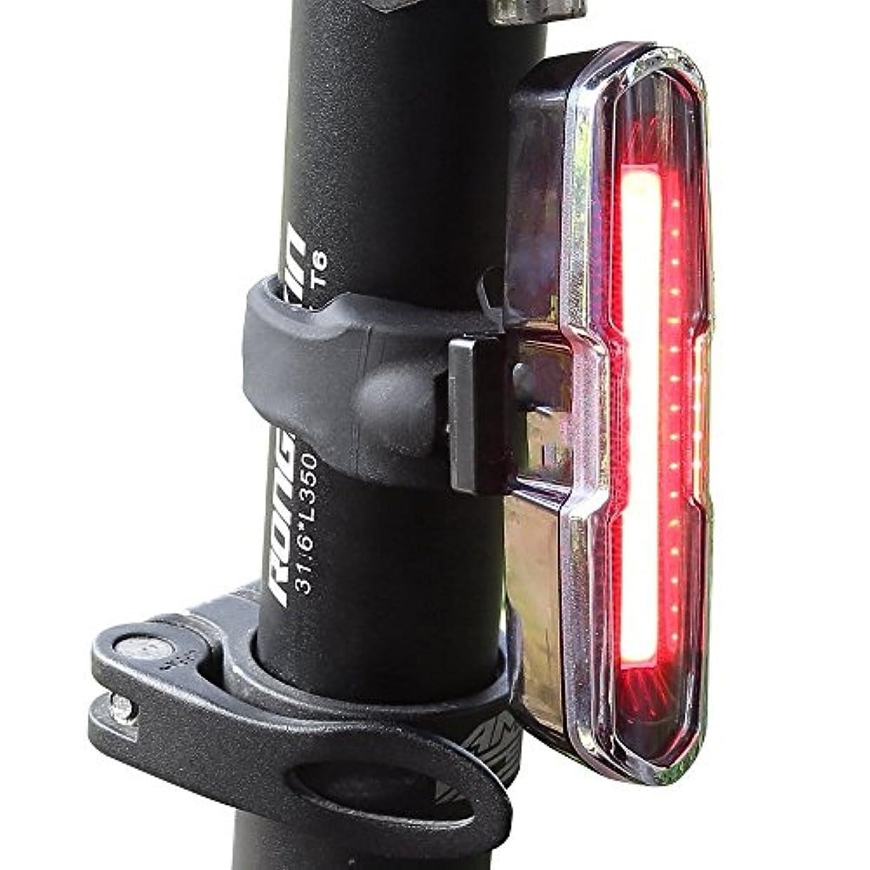 ファッション挑む手書きUSB充電式自転車ライト 赤と青のUSB充電式自転車テールライト-COBスーパーブライトヘルメットライト - マウンテンバイク用ライト