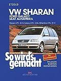 VW Sharan / Ford Galaxy / Seat Alhambra: Sharan 6/95 bis 8/10, Galaxy 6/95 bis 4/06, Alhambra 4/96 bis 8/10. Benziner 1,8l/110kW ( 150 PS ) ab 11/97 bis 2,8l/150kW ( 204 PS ) ab 5/00. Diesel 1,9l/66kW ( 90 PS ) ab 6/95 bis 2,0l/103kW ( 140 PS ) ab 11/05