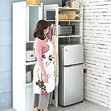 キッチン収納 冷蔵庫上 レンジラック (ホワイト)
