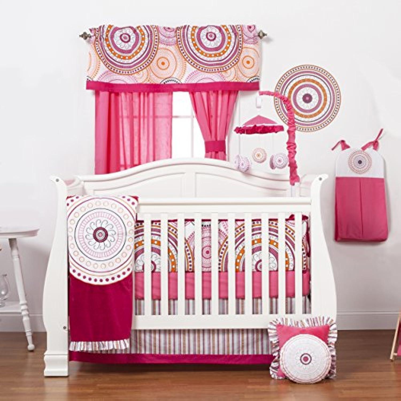 Oneグレースプレイスソフィアロリータ幼児ベビーベッド寝具セット、ホワイト/ピンク/ベリー/ブラック