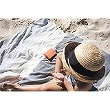 OZoola Johny Turkish Towel, Beach & Batch Towel, 100% Turkish Cotton (Blue)