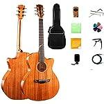 41インチアコースティックギター、シングルボードアコースティックギターフェイスシングル電気ボックスアコースティックギター初心者学生男性と女性初心者キット