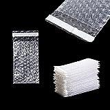 PackageZoom バブルクッションラップバッグ クリア 3インチ x 5インチ 50パック セルフシールバブルアウトバッグ 配送/梱包/引っ越し/保管用バブルポーチ