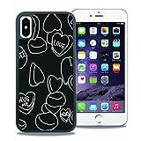 【WAYLLY】iPhone X ケース, [どこでもくっつくケース] [Qi充電対応] [米軍MIL衝撃吸収規格] ウェイリー アイフォン X用 耐衝撃 カバー [iPhone X](LOVE CANDY)