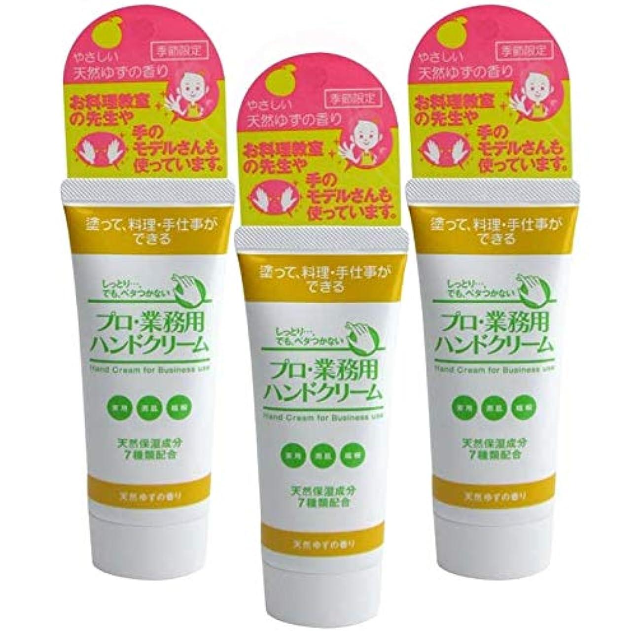 敵結論カウントアッププロ業務用ハンドクリーム 天然ゆずの香り 60g 3個セット