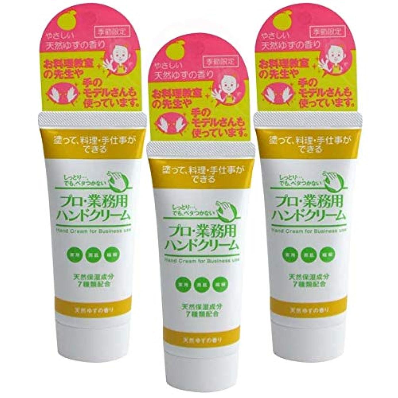 キャスト著者保証するプロ業務用ハンドクリーム 天然ゆずの香り 60g 3個セット