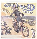 "BLNヴィンテージ自転車広告ポスター–Clevelandサイクルwith Indian Riding a自転車パリフランス広告ポスター–アイロン熱転写 10 by 10"" ht_153272_3"