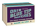 オハイオブルーTip Matches 250CTボックスby Hearthmark