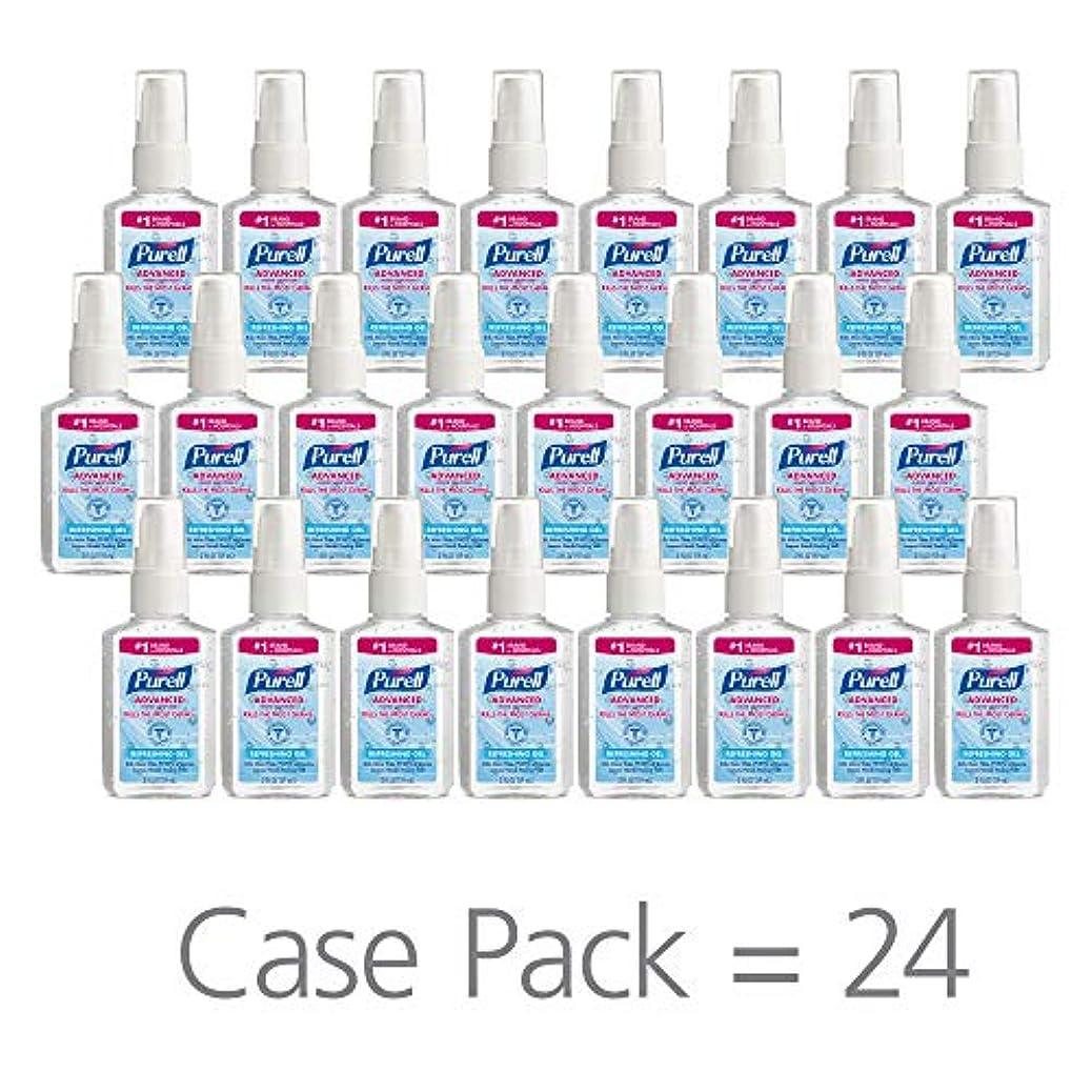 固める後ろ、背後、背面(部達成するPURELL 9606-24 Advanced Instant Hand Sanitizer, 2 fl. oz. Pump Bottle (Case of 24),2 fl. Oz by Purell