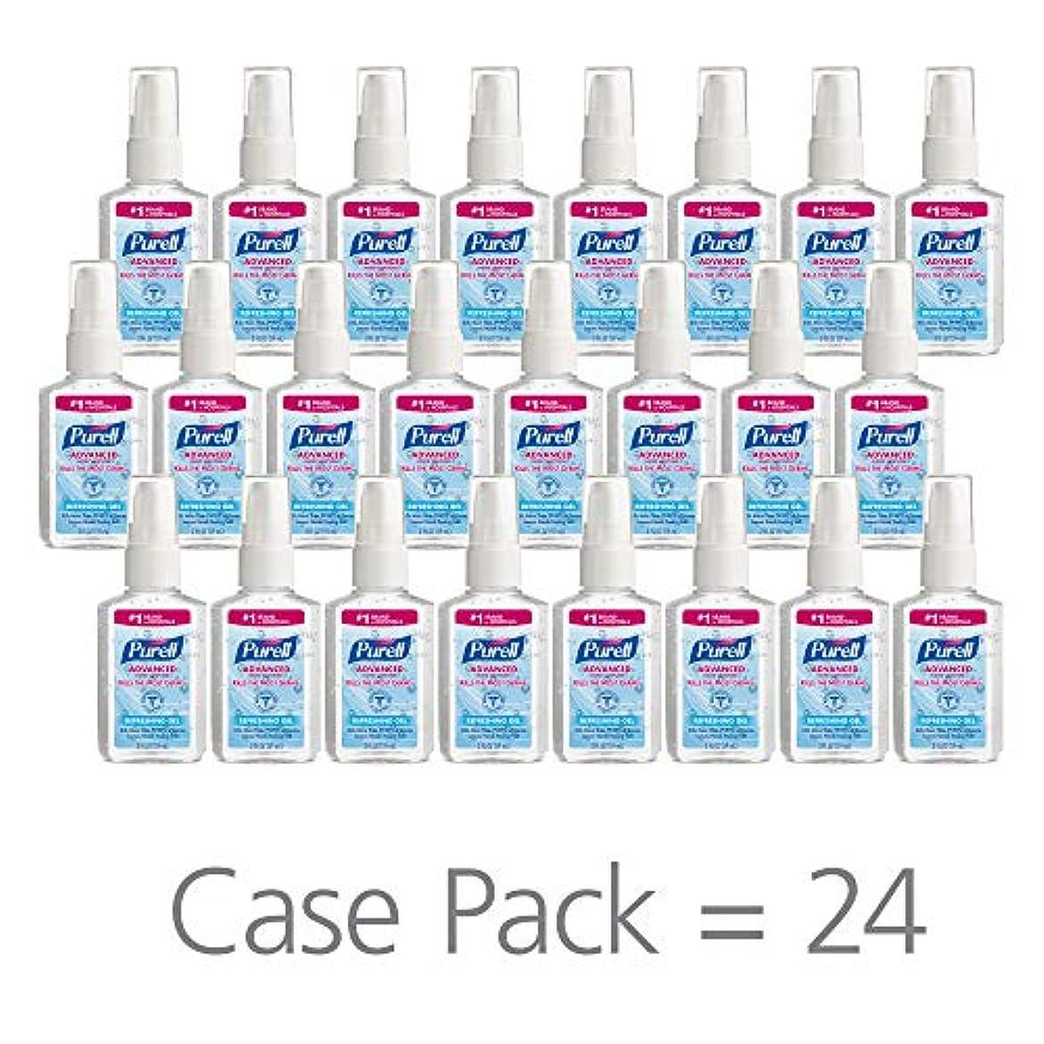 ラグオープナー設計PURELL 9606-24 Advanced Instant Hand Sanitizer, 2 fl. oz. Pump Bottle (Case of 24),2 fl. Oz by Purell