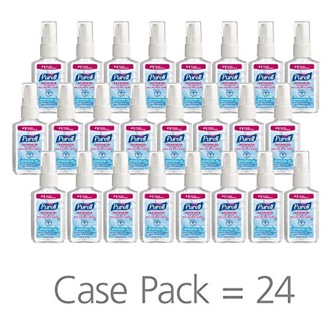 弓ゲージ微生物PURELL 9606-24 Advanced Instant Hand Sanitizer, 2 fl. oz. Pump Bottle (Case of 24),2 fl. Oz by Purell