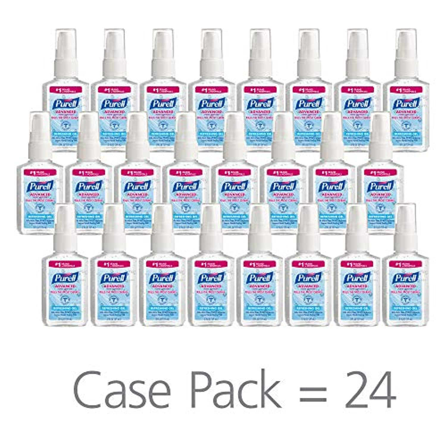削減挨拶引退するPURELL 9606-24 Advanced Instant Hand Sanitizer, 2 fl. oz. Pump Bottle (Case of 24),2 fl. Oz by Purell
