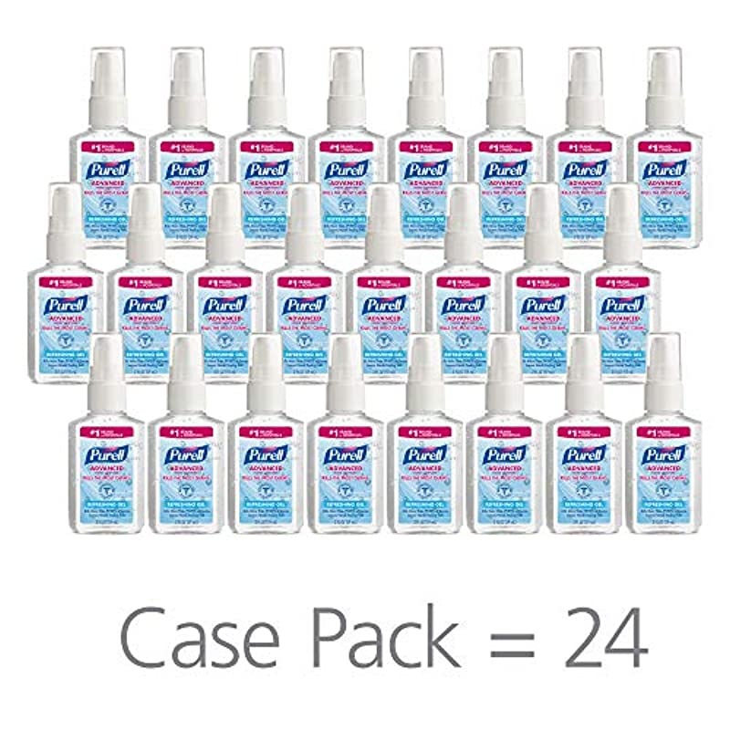 PURELL 9606-24 Advanced Instant Hand Sanitizer, 2 fl. oz. Pump Bottle (Case of 24),2 fl. Oz by Purell