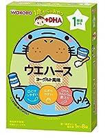和光堂 1歳からのおやつ+DHA ウェハース ヨーグルト風味×6個