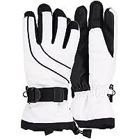 Women's Thinsulate Lined Waterproof Ski Glove (White/Black Small/Medium)