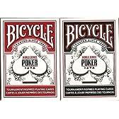 BICYCLE(バイスクル) WSOP トランプ 赤/黒 ポーカーサイズ 2デックシュリンクパック