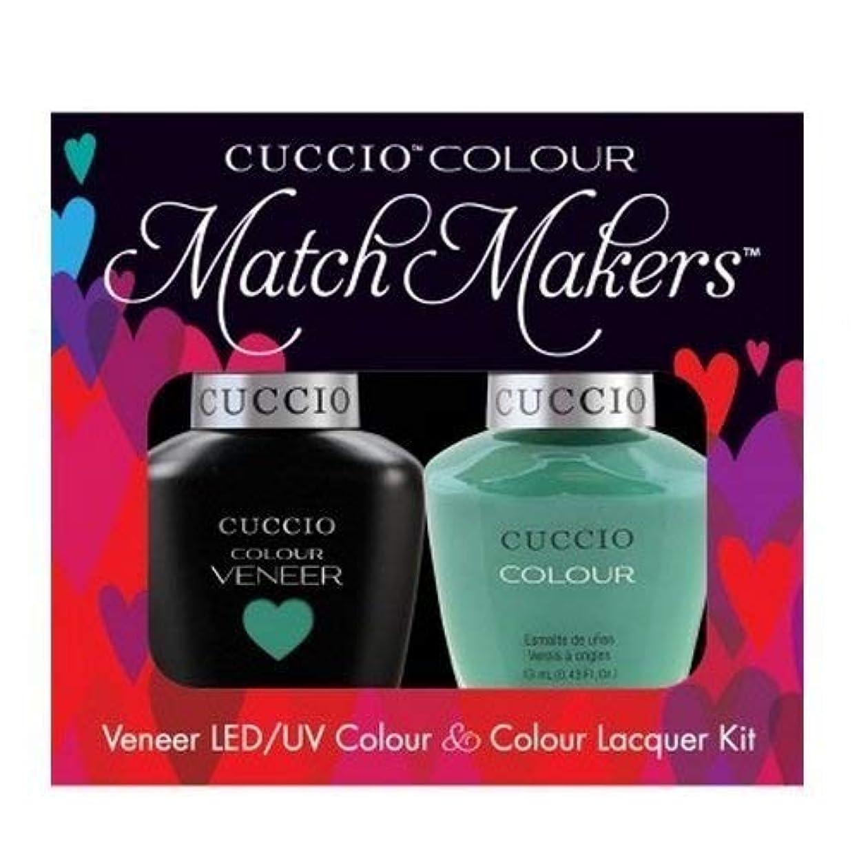 咲く意味する揮発性Cuccio MatchMakers Veneer & Lacquer - Jakarta Jade - 0.43oz / 13ml Each