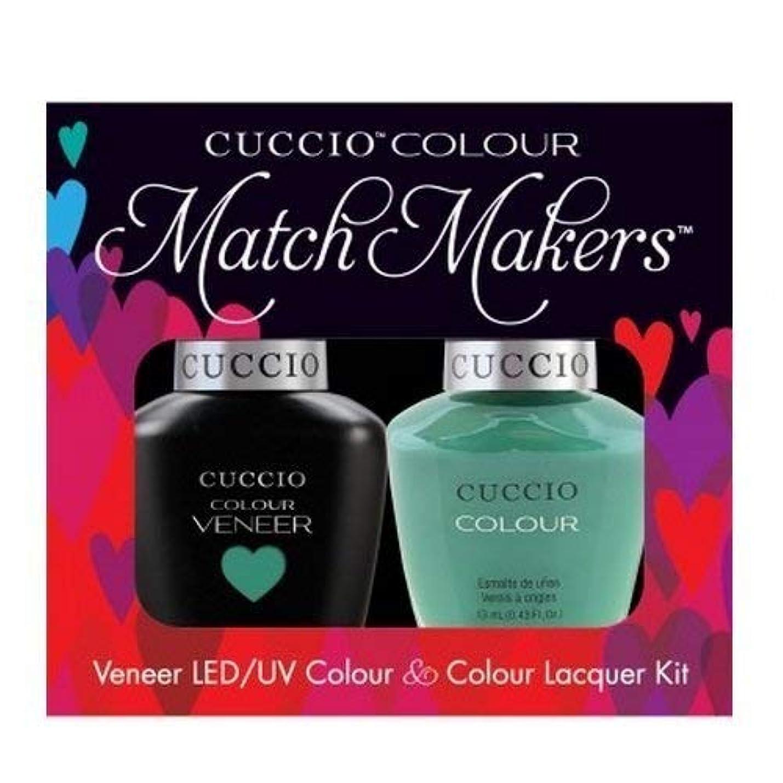 優先権母音息苦しいCuccio MatchMakers Veneer & Lacquer - Jakarta Jade - 0.43oz / 13ml Each