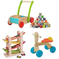 EverEarthブロックウォーカー、EverEarth Junior Ramp Racer、EverEarth木製ランプレーサー、木製ランプレーサー、木製Trike、プッシュTrike Trike、ブロックウォーカー、、初期学習玩具、幼児玩具、モータースキルToys