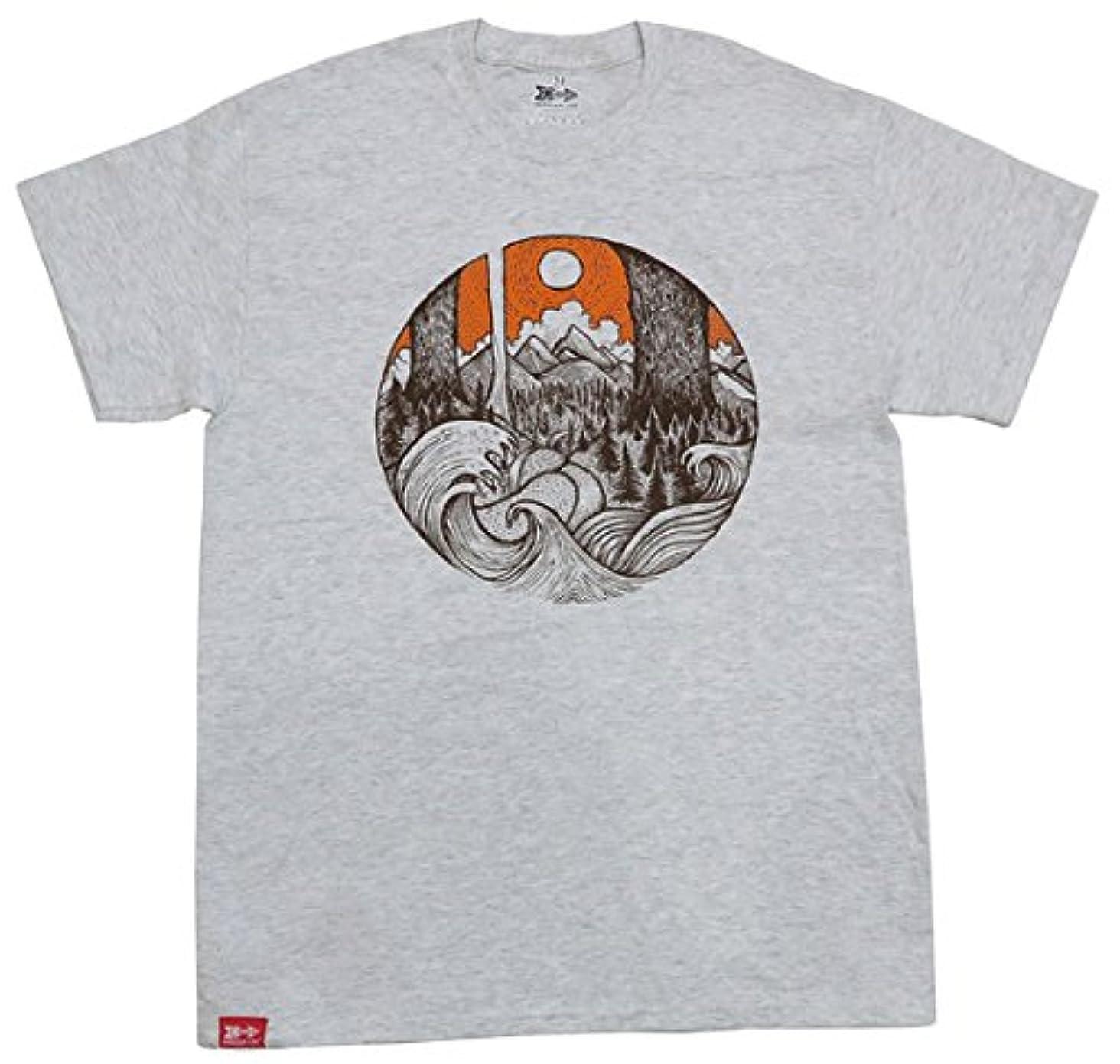 読みやすいそこ差(メリディアンライン)MERIDIAN LINE プリントTEE Tシャツ クルーネック アウトドア ナチュラル SURF&TIMBER インポート 半袖