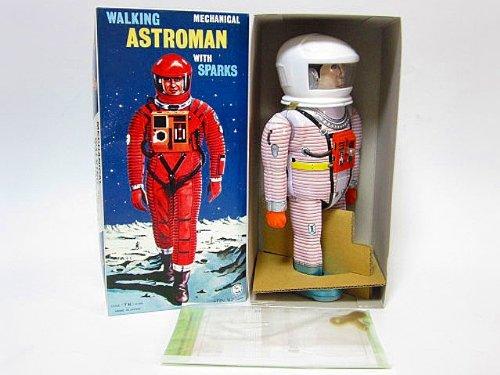 ブリキ玩具 アストロマン ホワイト 復刻版 大阪ブリキ製 2001年宇宙の旅 野村トーイ おもちゃ