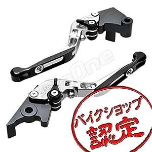【ビレットレバー】レバーセット 銀/黒 可倒式 Ninja250R EX250K ニンジャ250R EX250K ブレーキレバー クラッチレバー