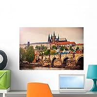 "Saint Vitus大聖堂と壁壁画by Wallmonkeys Peel and Stickグラフィックwm362542 24""W x 16""H - Medium FOT-79068665-24"