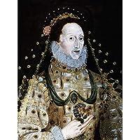 Portrait Queen Elizabeth First England Painting Royal Historic Art Print Canvas Premium Wall Decor Poster Mural ポートレート女王最初イングランドペインティングロイヤル壁デコポスター