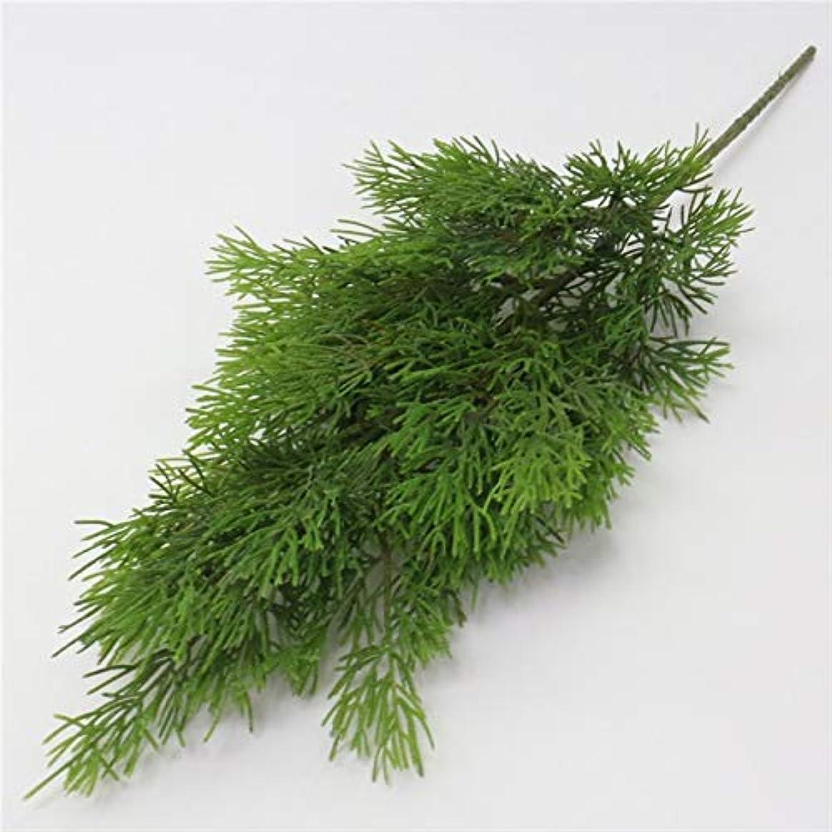 物理的な強大な永久人工観葉植物 シミュレーション葉プラスチックフェイク花装飾的な葉のホームリビングルームの庭の装飾グリーン人工植物 YXJJP (Color : 緑, Size : One Size)