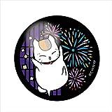 夏目友人帳 ニャンコ先生 C 花火 切り絵シリーズ ガラスマグネット