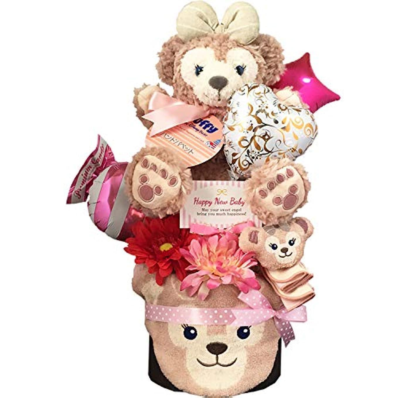 中で入るワーディアンケースおむつケーキ [ 女の子/シェリーメイ : ディズニー / 2段 ] パンパース M19枚 (1歳 の 誕生日プレゼント に Mサイズ)2101 ダイパーケーキ 赤ちゃん ベビーシャワー ギフト