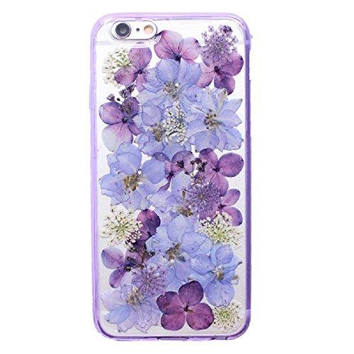 押し花 flower フラワー iPhone7 TPU ケー...