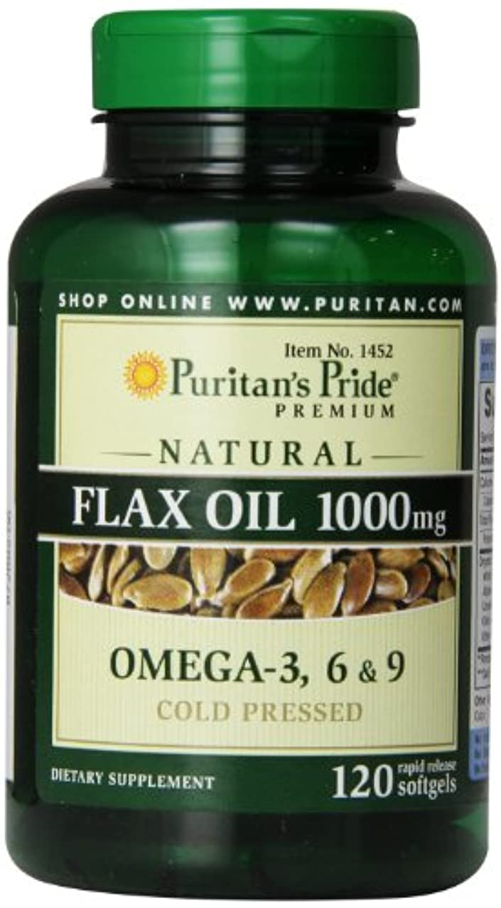 複雑でない対ドキドキ亜麻仁油天然フラックスオイル1000mg120錠!天然植物性オメガ3-6-9!
