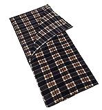 (サモルックス) Sumolux インナーシュラフ 寝袋 フリース 毛布 ブランケット 大判 あったかい 多機能 膝掛け アウトドア 車中泊 洗える ファスナー付き 封筒型 ブルーチェック