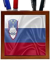 Rikki Knight RK-PH2849 Slovenia Flag Design 5-Inch Wooden Tile Pen Holder (RK-PH2849) [並行輸入品]