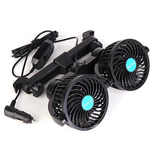 車用 サーキュレーター 暖房冷房 扇風機 風量調節可能 36...