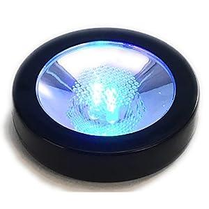 フローレックス ブラック Φ9.5×H2.3cm レインボー コースター LED ディスプレイライト FLO-008