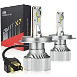 LEDヘッドライト Zdatt ledヘッドライト 新車検対応 ZESチップ12000LM 100W(50W*2) 高輝度 IP68防水6500K 2個セット 360度調整可 取付簡単 保証2年(H4 2個入)