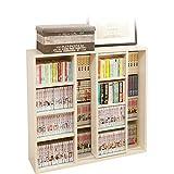 アイリスオーヤマ 本棚 コミック 大容量 スライド棚 ホワイト シングル 幅約90×奥行約29.2×高さ約92.2cm CSS-9090