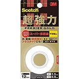 3Mスコッチ超強力両面テーププレミアゴールドスーパー多用途薄手KPU-12