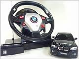 GK◇BMW X6◇正規認証車ハンドルステアリングコントローラー1/24ラジコンカー/ブラック