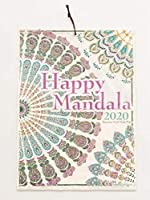 2020年壁掛けカレンダー happy mandala ネパール手漉き紙