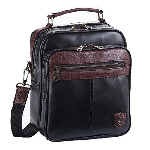 ビジネスバッグ メンズ ショルダーバッグ 出張 通勤 A5 ブレザークラブ 合皮コンビショルダーシリーズ ブラック 16413