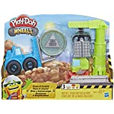 Play-Doh - Crane N Forklift - 2 Tubs of Dough + 1 Sand Building - Creative Kids Toys - Ages 3+