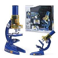 パズル顕微鏡 子供の顕微鏡1200x設定科学実験教授援助科学玩具子供の生物学教育顕微鏡 ゲーム顕微鏡でズームイン