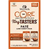 Wellness Natural Pet Food CORE Tiny Tasters Pate Land Variety Pack, 1.75-Ounce (Pack of 12), Chicken & Turkey