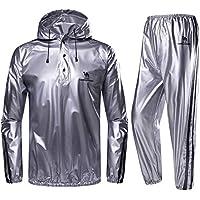 CAMEL CROWN サウナスーツ メンズ 上下セット ダイエットウェア トレーニングウェア シェイプアップ 発汗 脂肪燃焼 撥水素材 フード付き お手入れ簡単 ジョギング ウォーキング