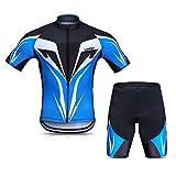 LIXADA サイクルジャージ 上下セット サイクリングウェア スポーツウェア 半袖ウェアセット 夏用 高弾性 吸汗速乾 通気がいい